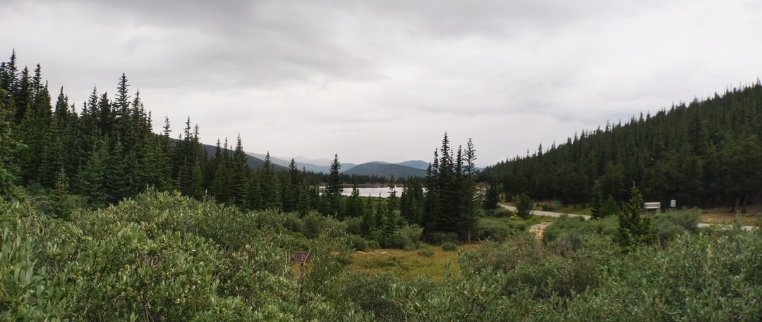 Echo Lake and the surrounding area on Mount Evans in Colorado