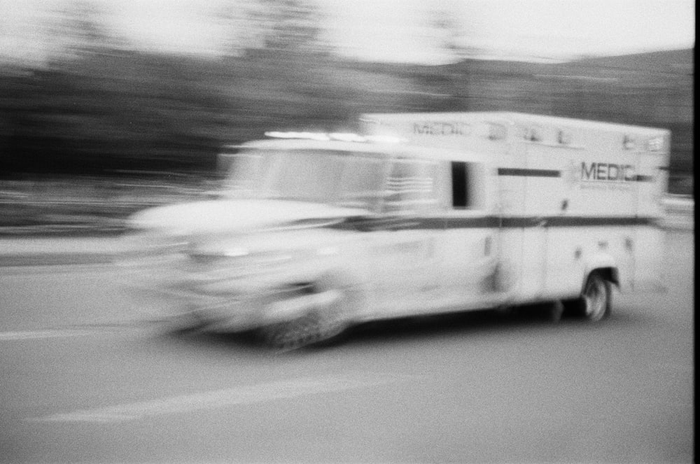 medic van on road