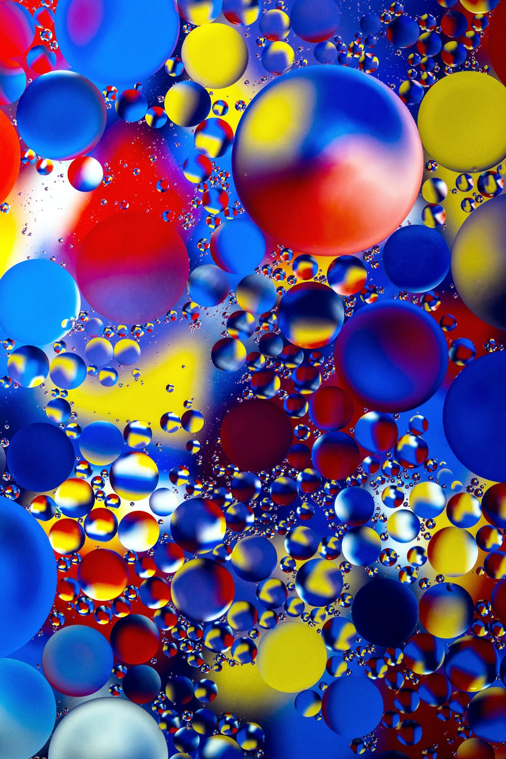 multicolored bubbles
