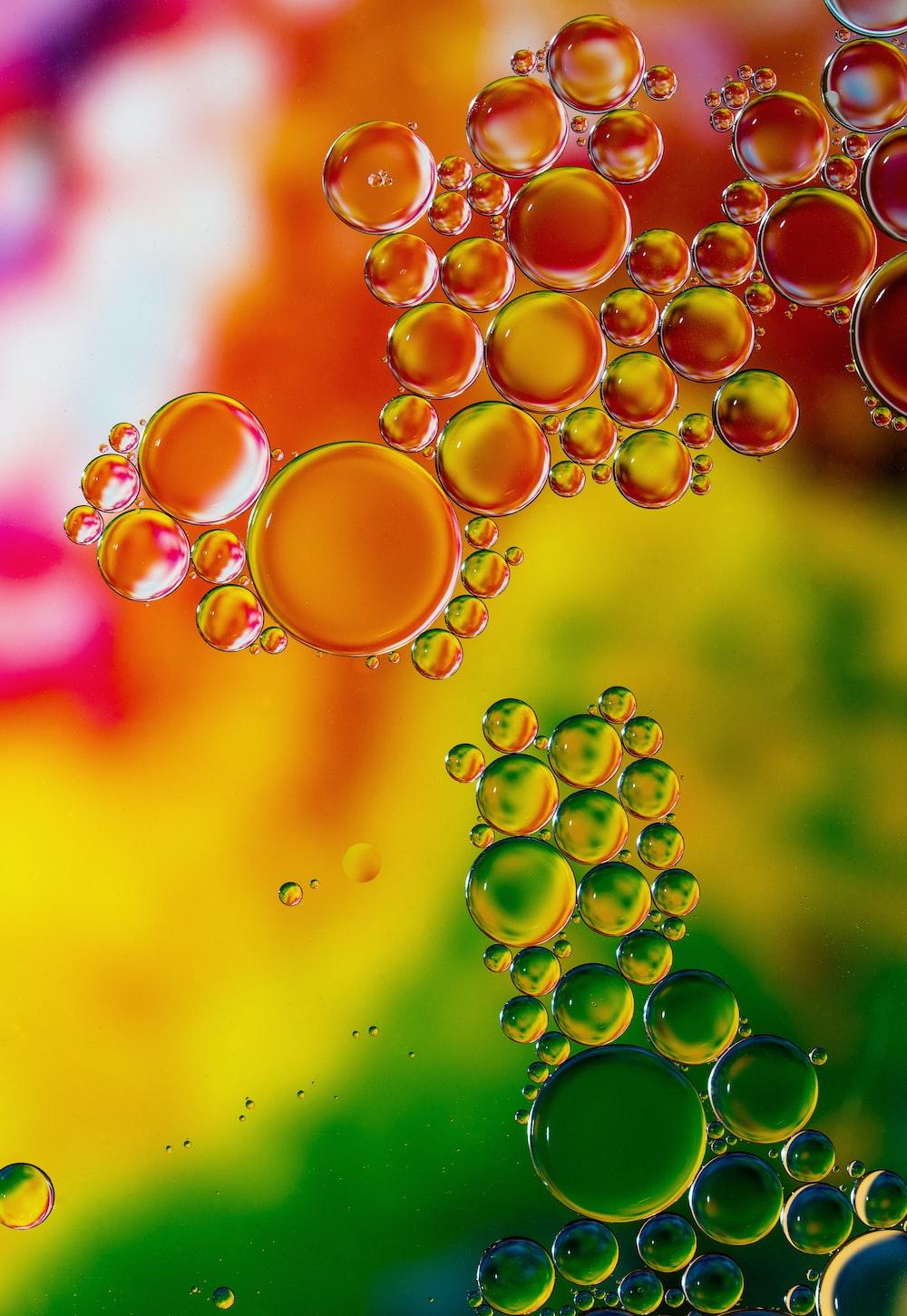 assorted-color bubbles