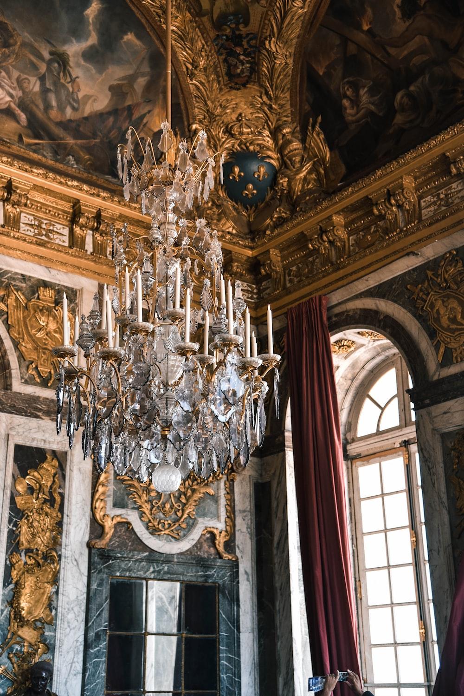 chandelier inside room
