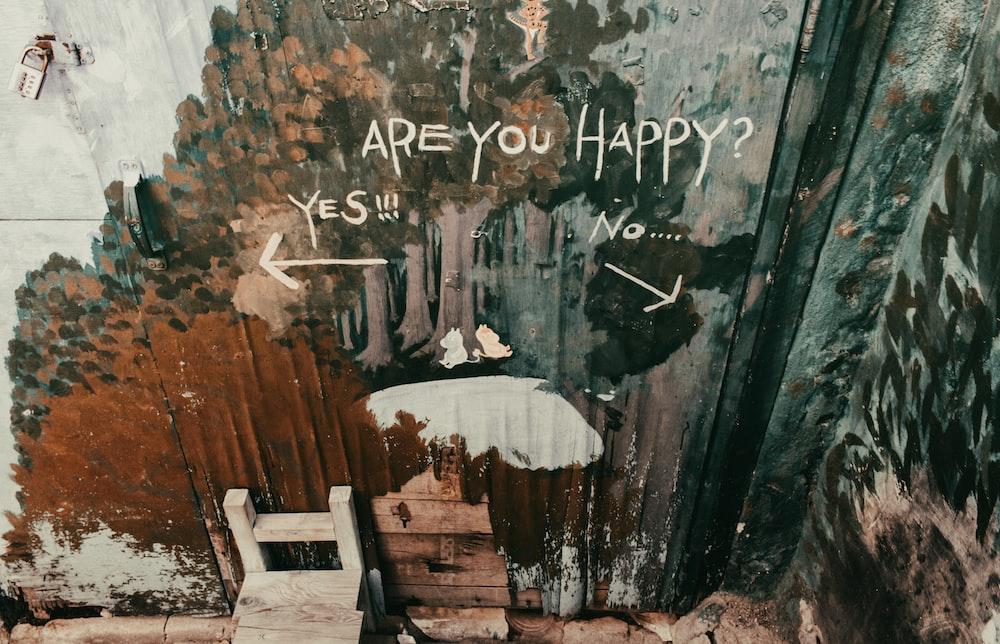 Are You Happy? graffiti