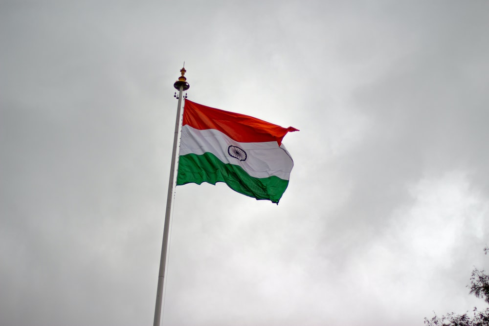 raised India flag