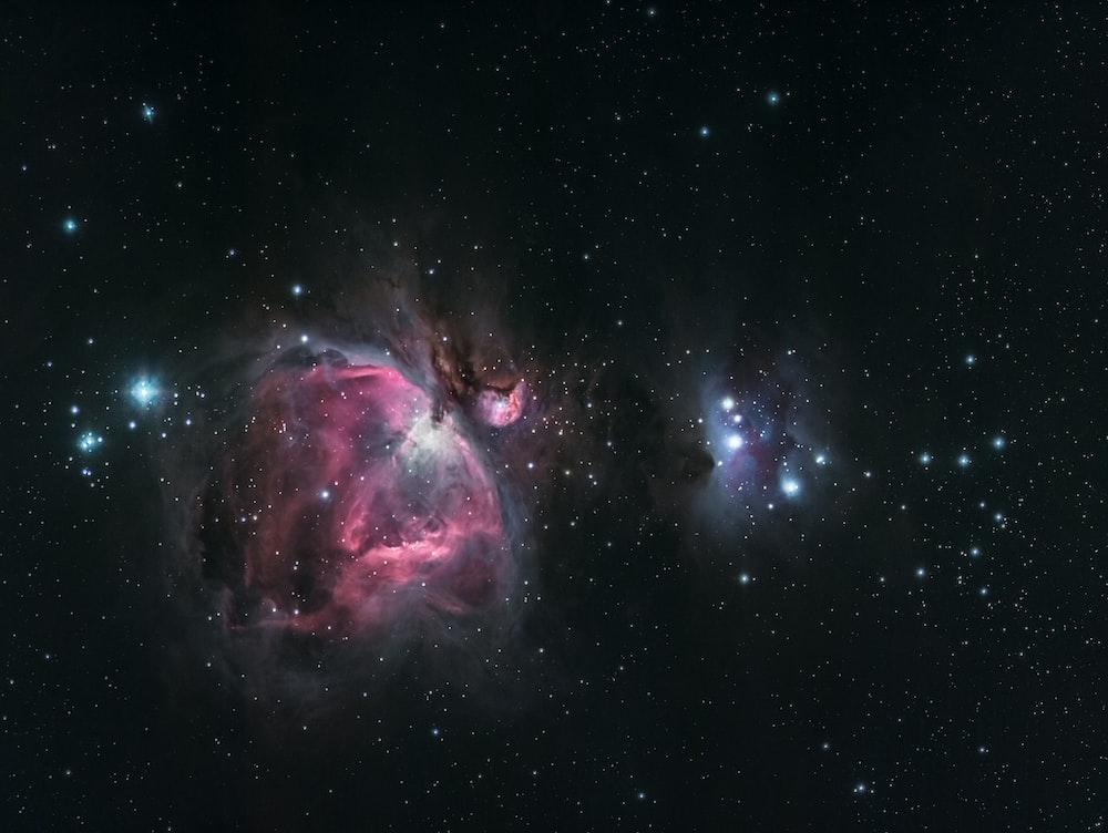 black and purple nebula digital wallpaper