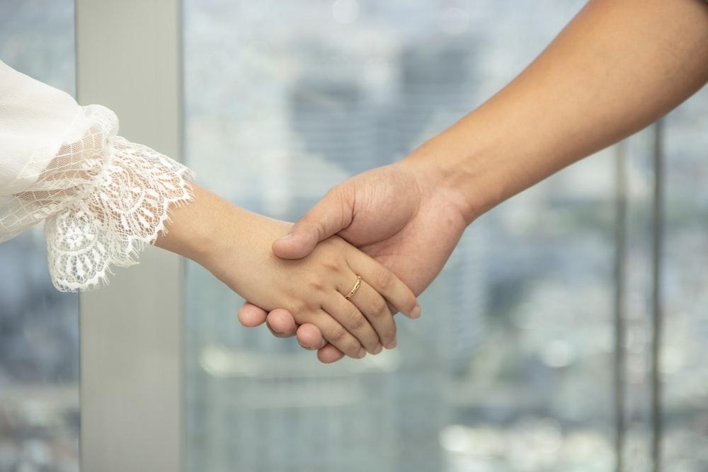 handshake close-up photography
