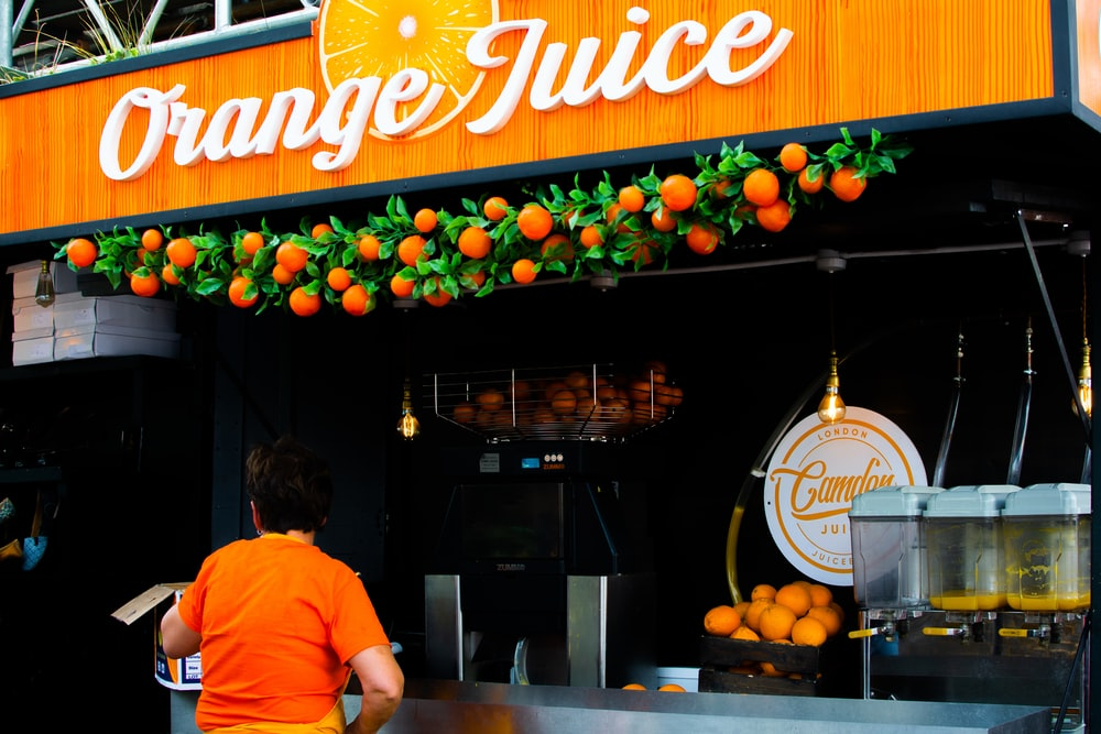 Orange Juice store facade
