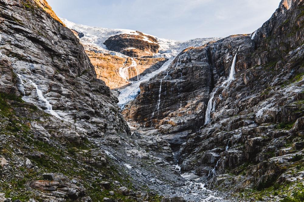 rocky mountain trail through summit