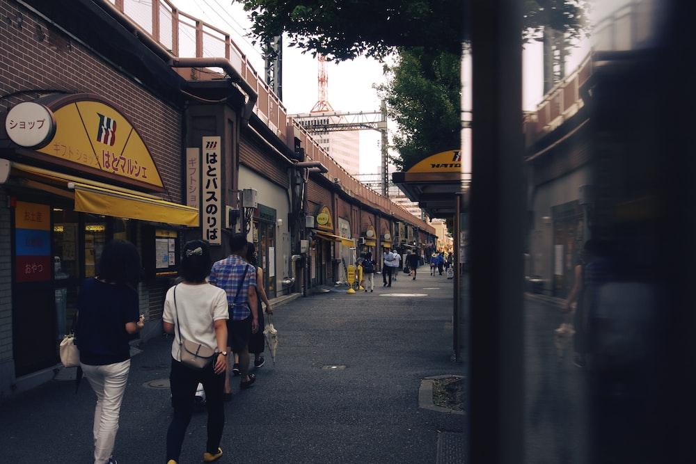 man walking near the restaurant