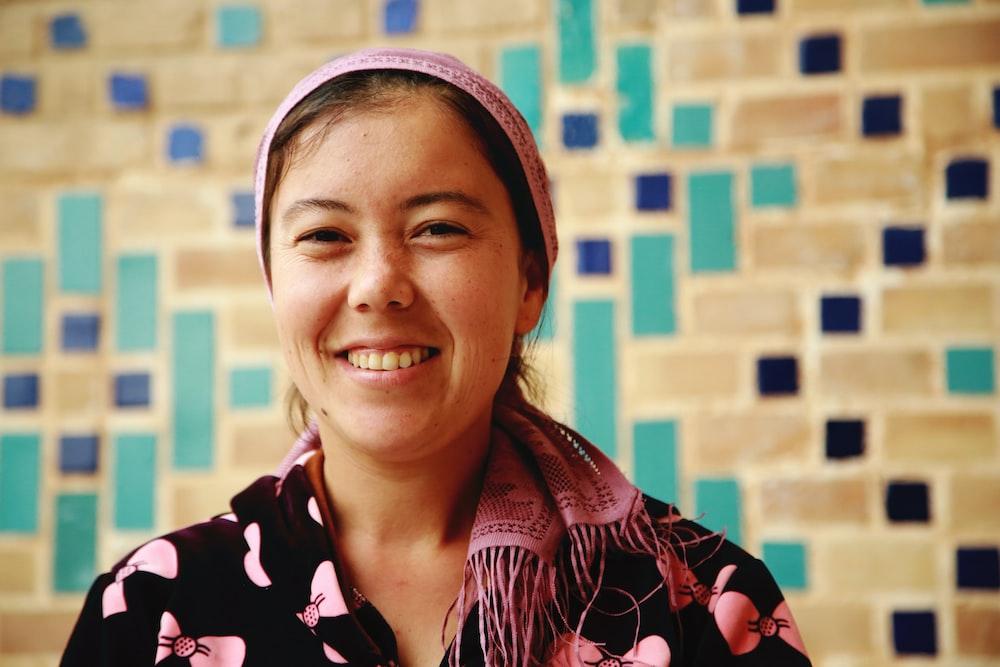 portrait photography of woman wearing headscarf