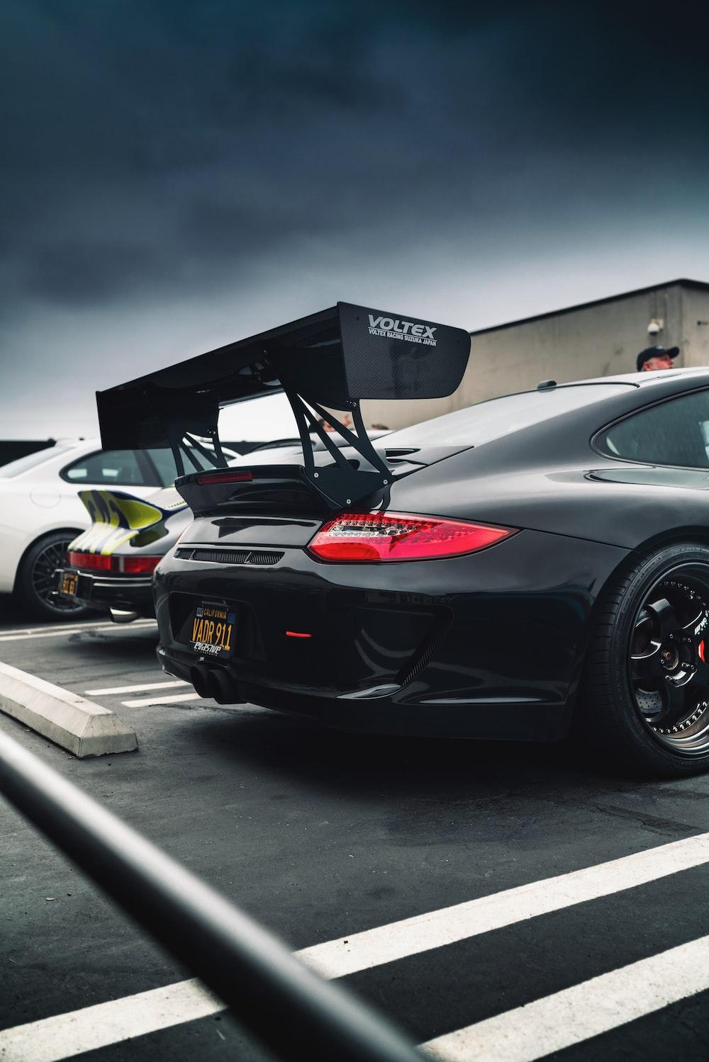 parked black car