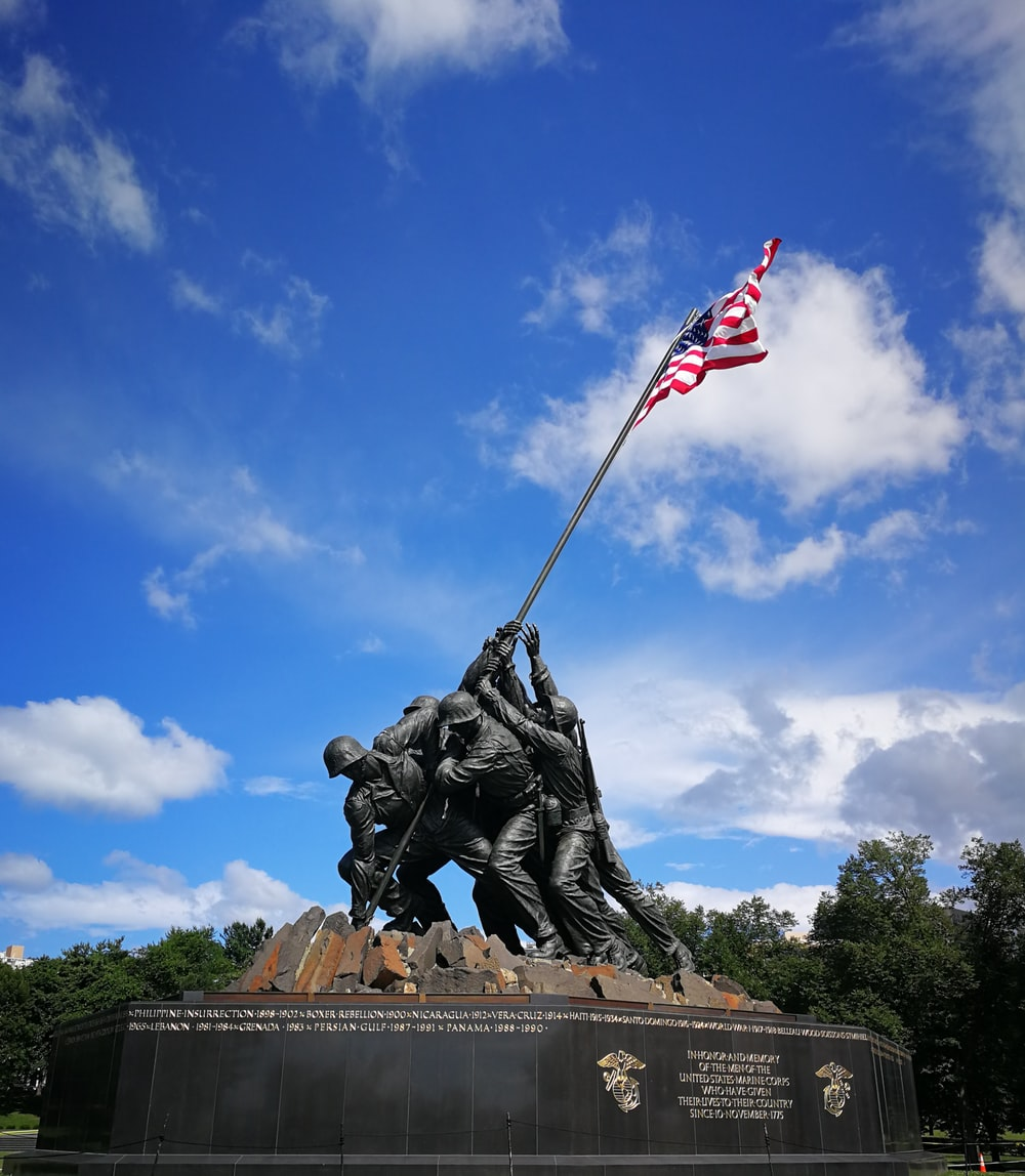 architectural photography US Marine Corps War Memorial statue