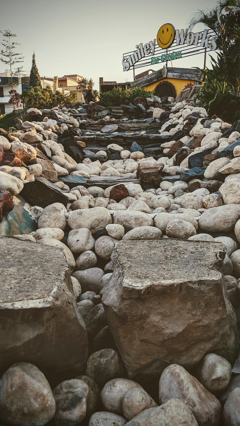 pile of gray rock