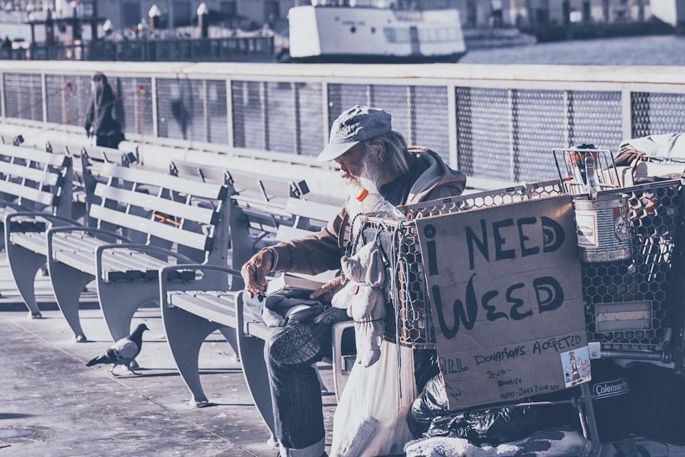 I Need Weed sign