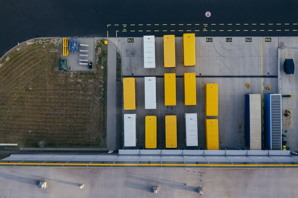 yellow and white containers