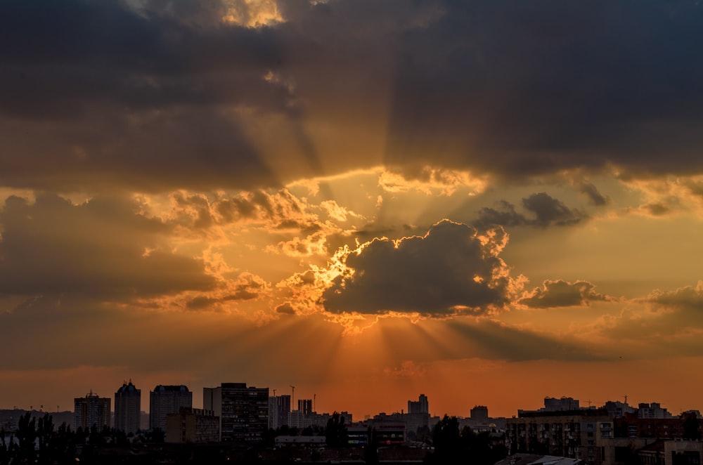 sunset cloud scenery