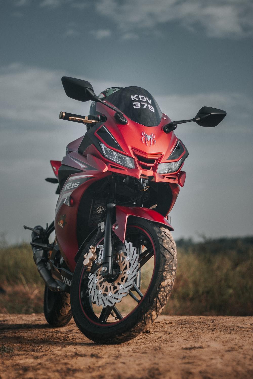 red sport bike