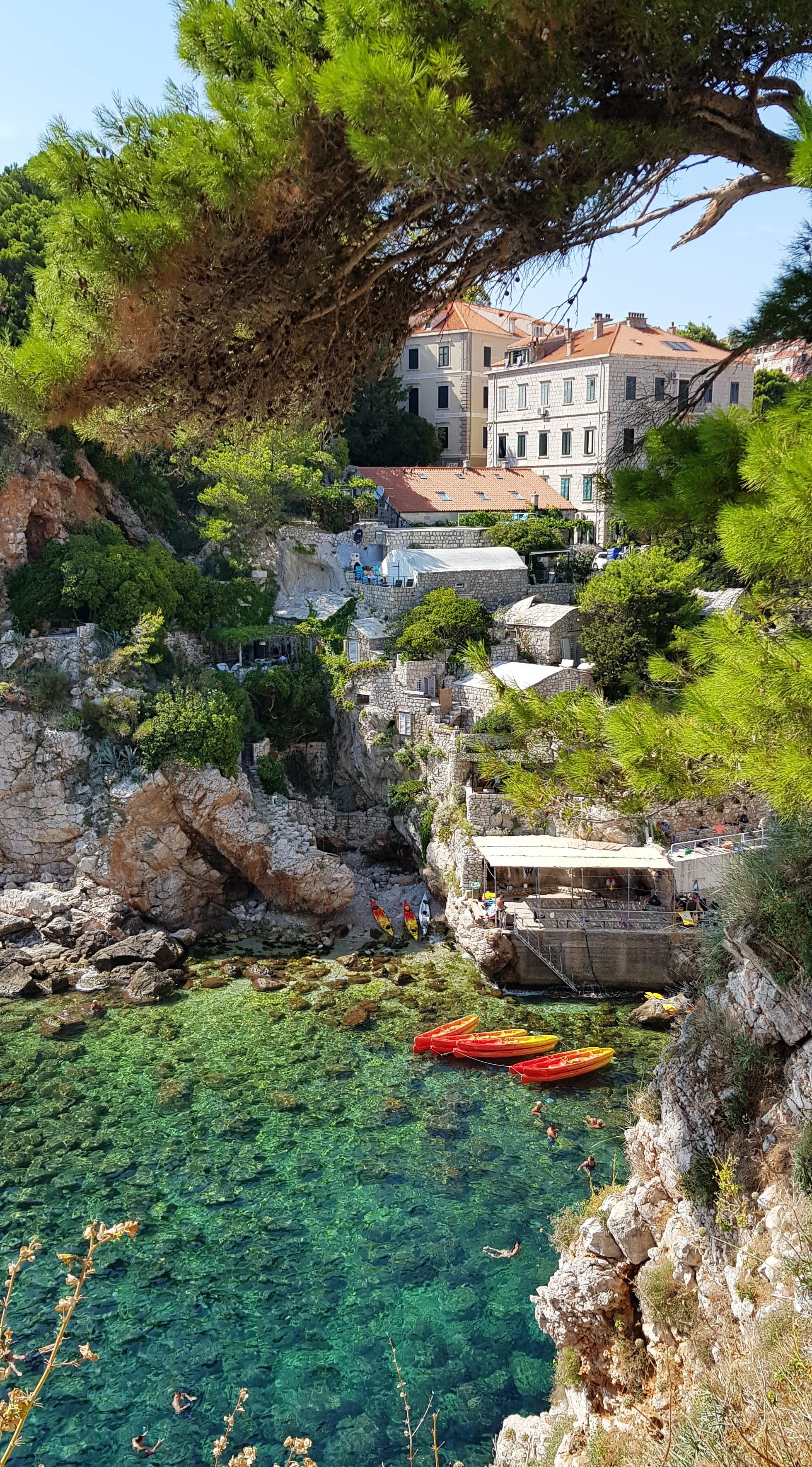 Šulić beach (Kolorina) in Dubrovnik, from above