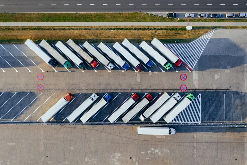 parked trucks