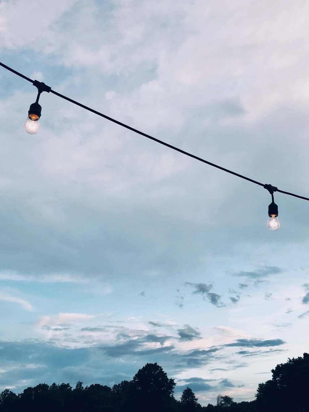 two LED bulbs