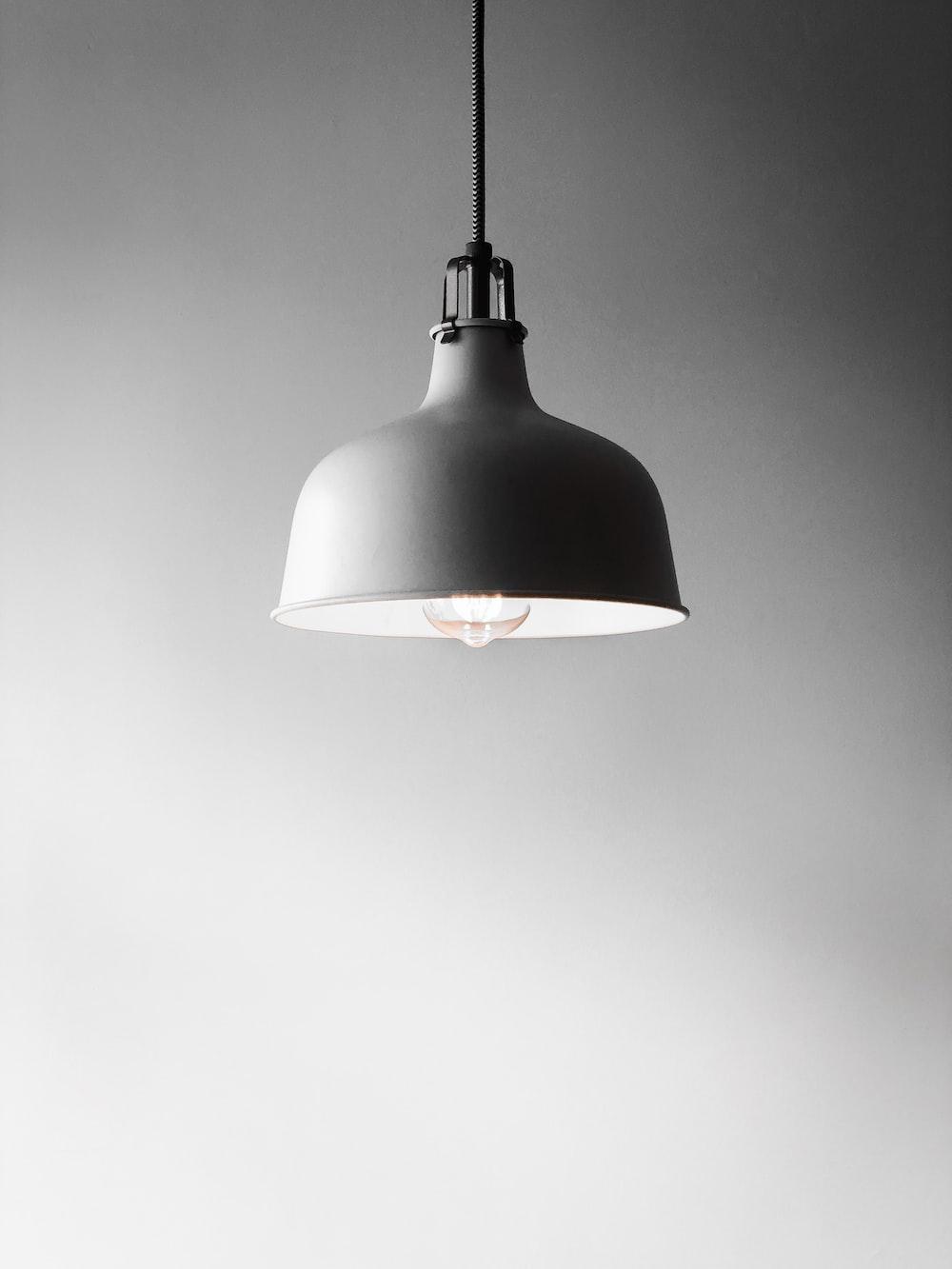 white pendant lamp