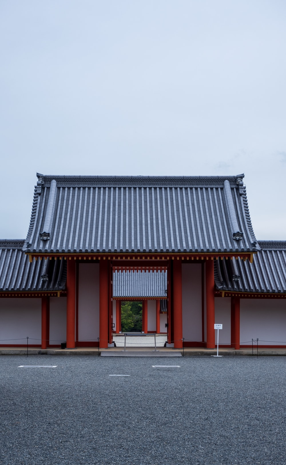 red and gray pagoda house