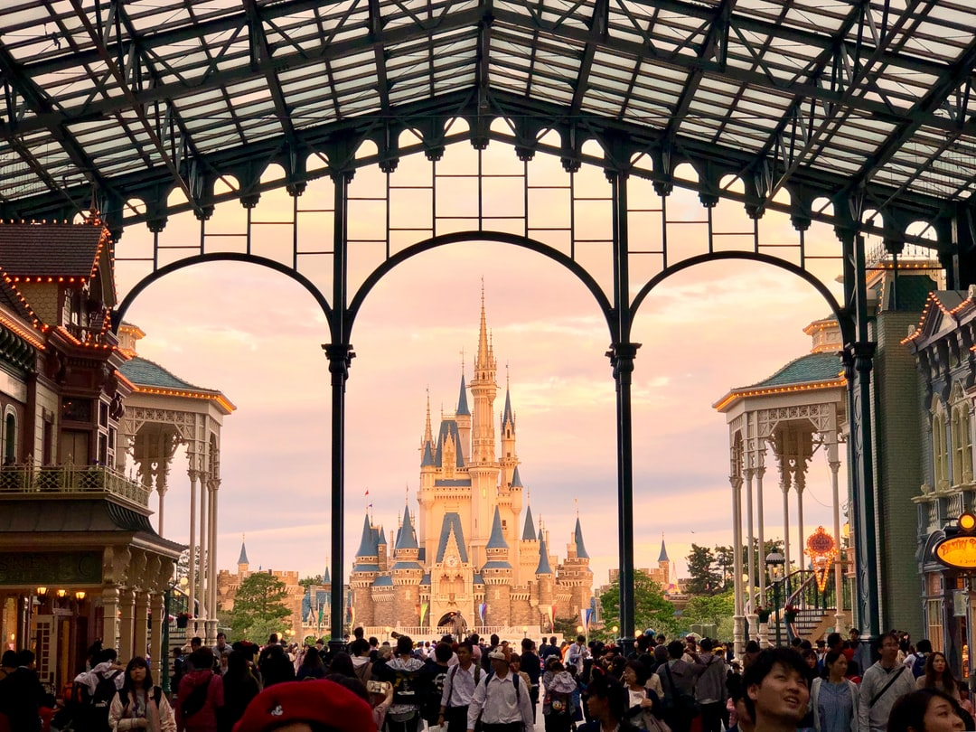 Sunset at Tokyo Disneyland