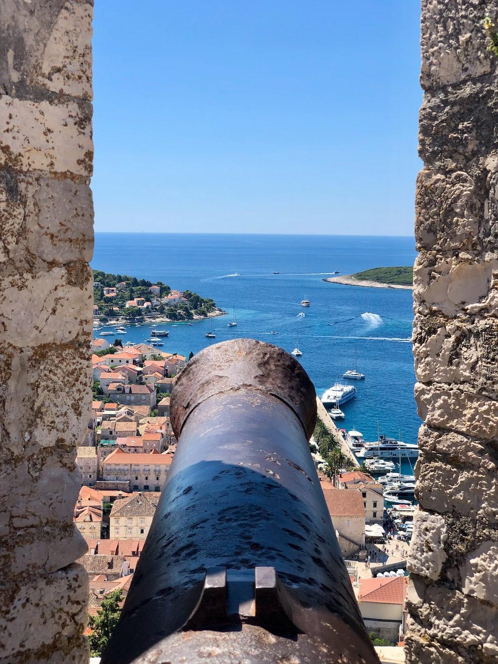 cannon facing coastal area