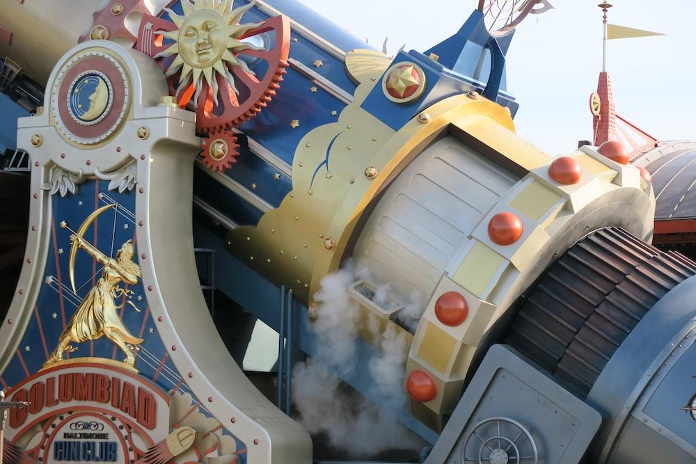 close view of Columbiad amusement ride