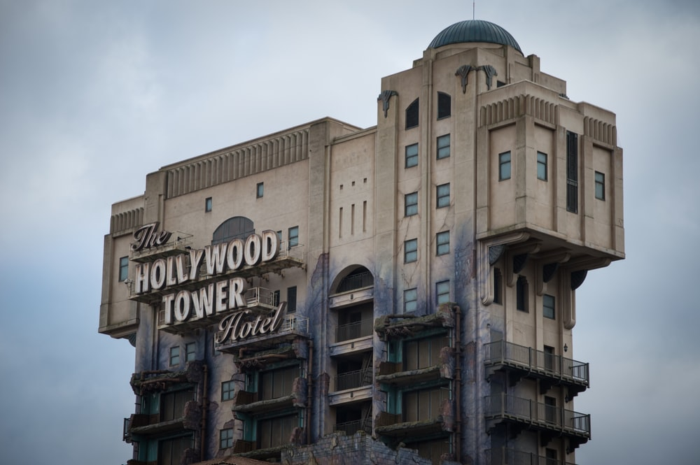 Hollywood Tower Hotel building close-up photography