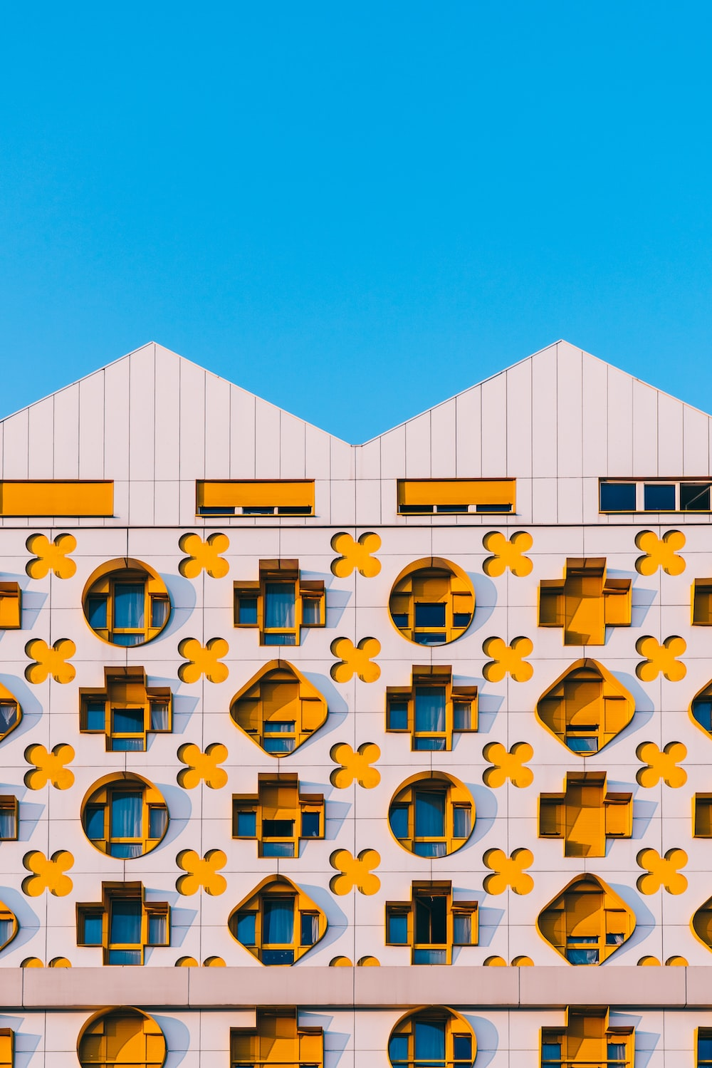 white and yellow building