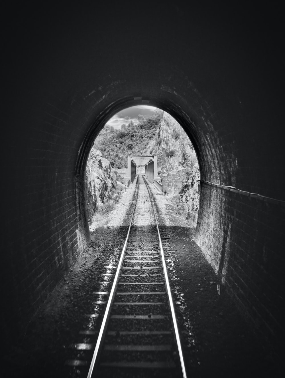 railway in tunnel