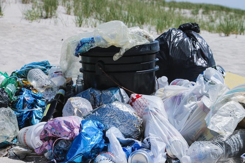 trash lot close-up photography