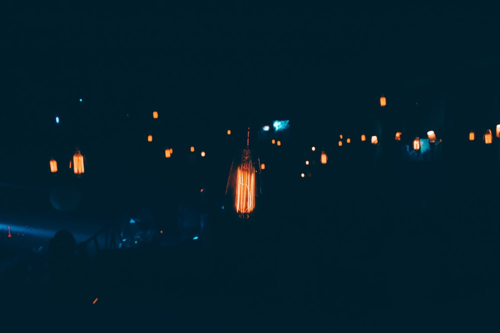 powered-on lanterns