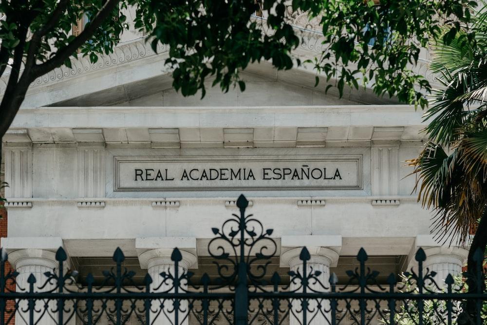 Real Academia Espanola building close-up photography