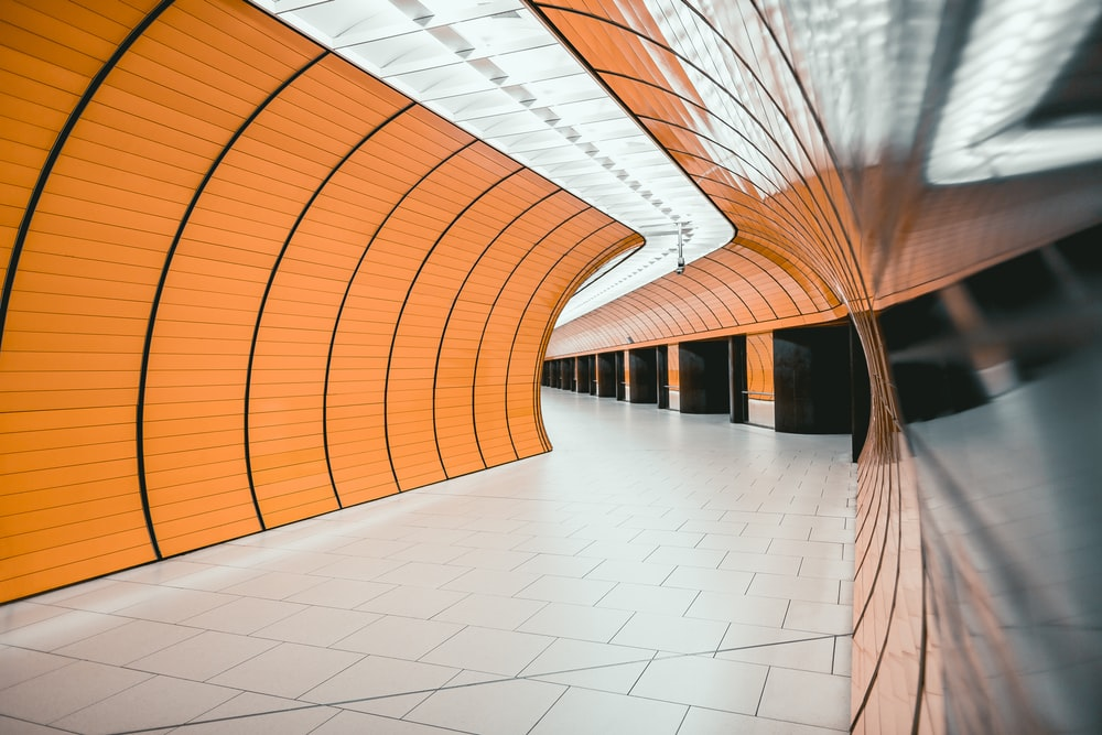 orange and white subway