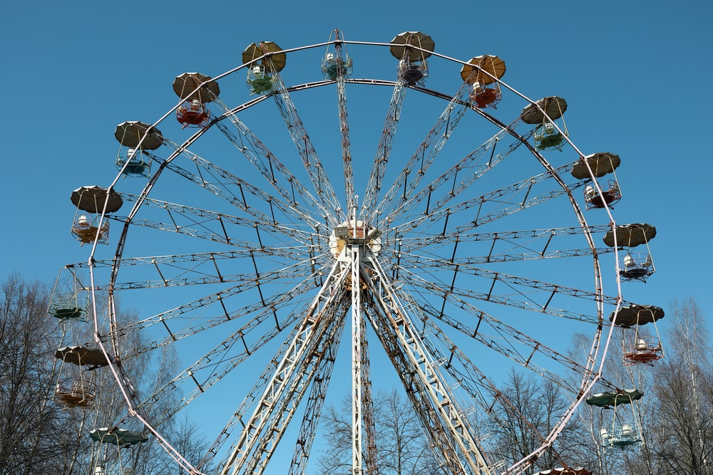 white and brown Ferris wheel photo
