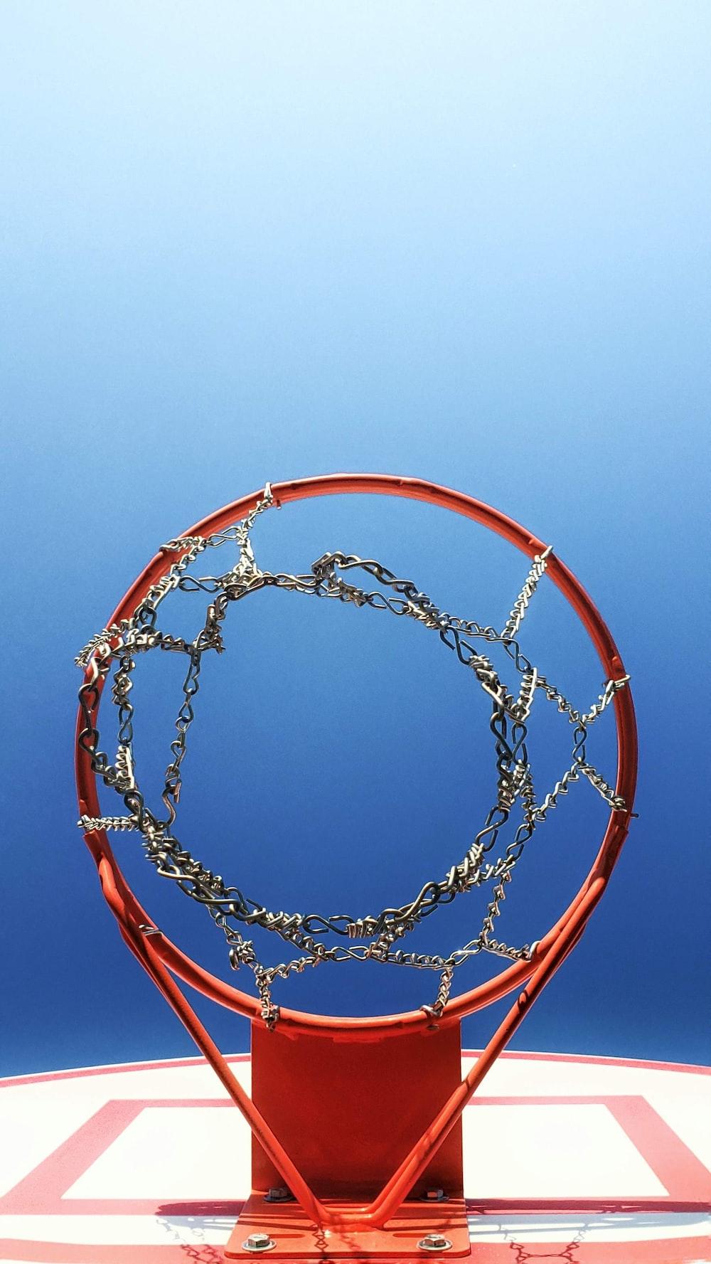 photo of basketball hoops