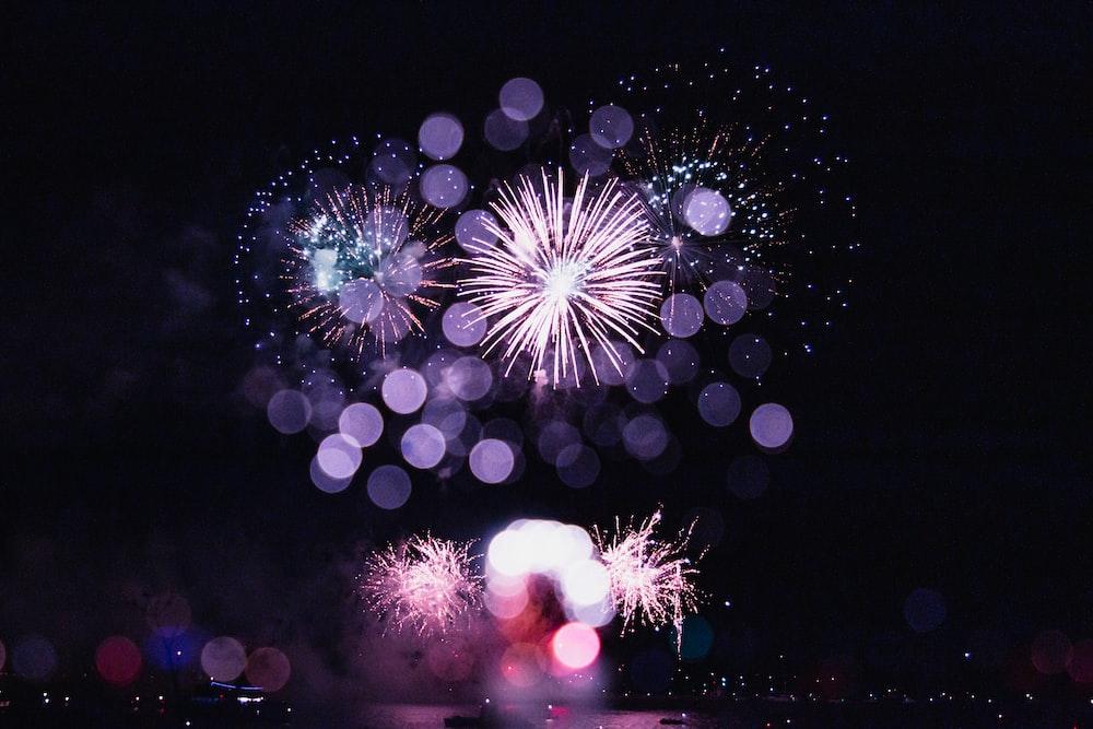 fireworks displaying during nighttime