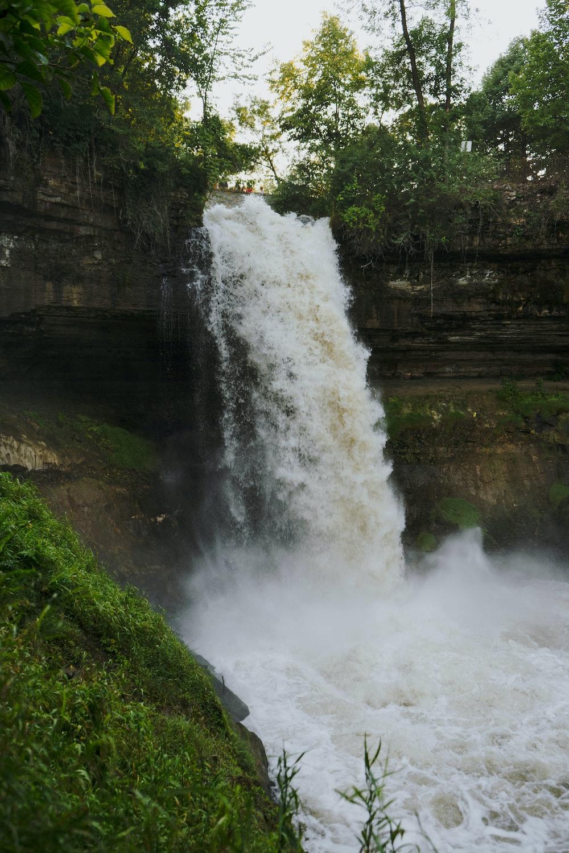 close-up of waterfalls