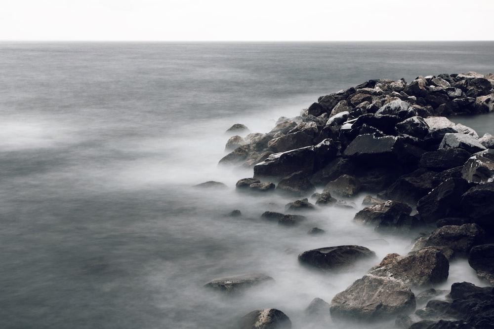grey rock boulders