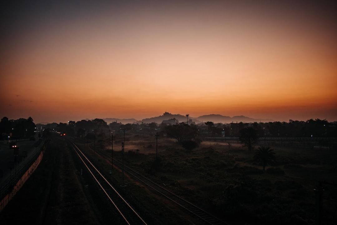 Sunrise from Bongaigaon flyover Bridge