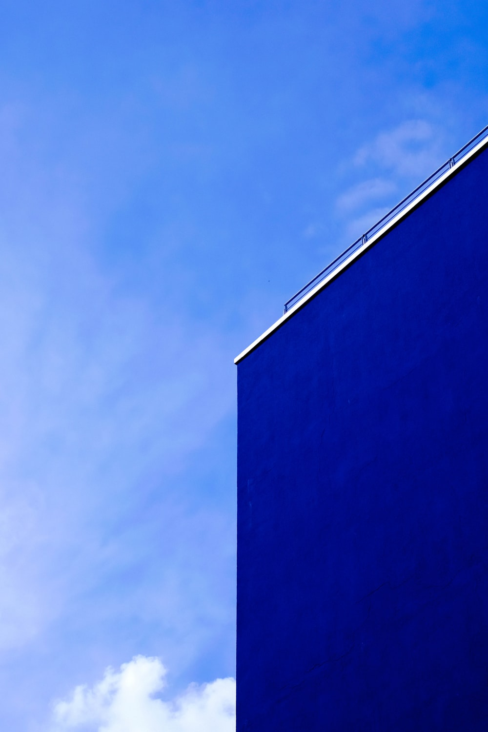 blue building during day