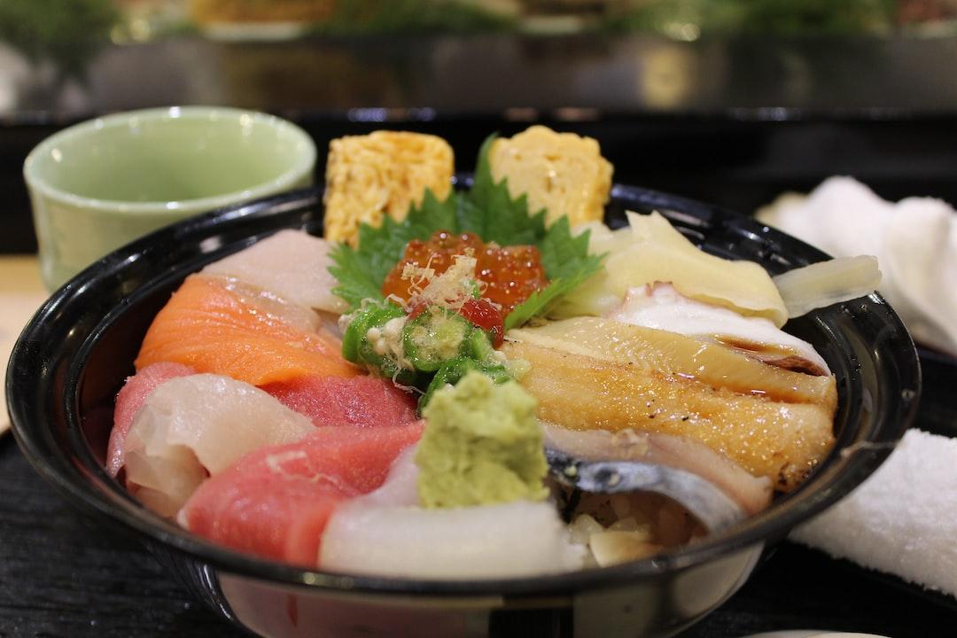 A bowl of Chirashi-don from Sushizanmai in Tokyo.