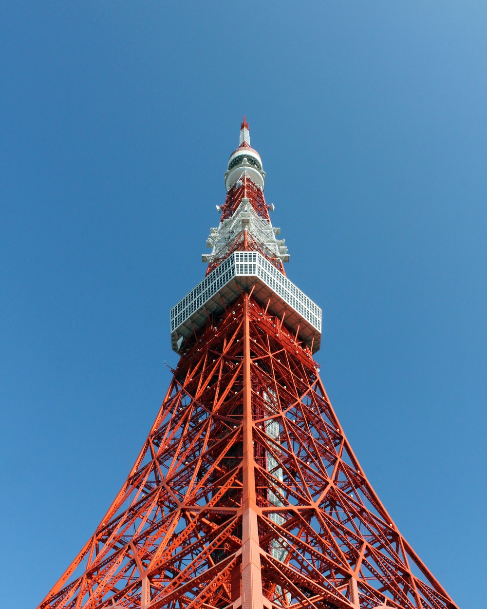 red and white satellite tower