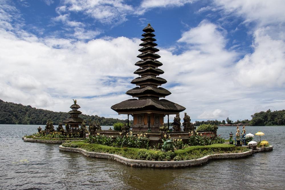 brown pagoda house