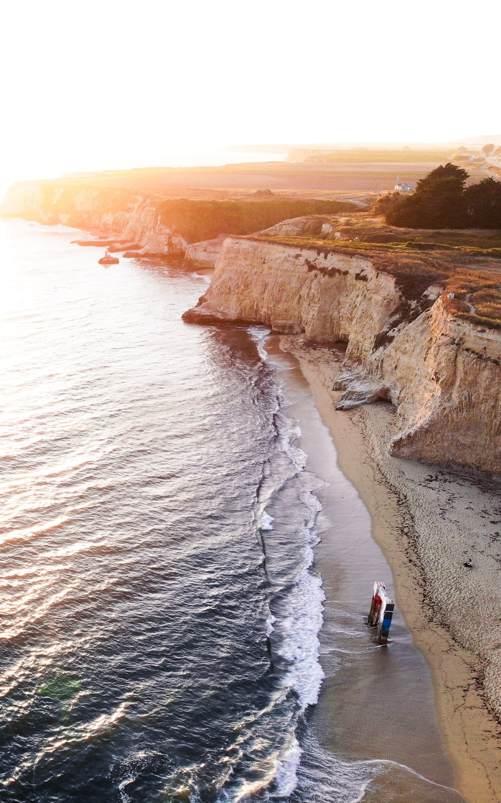 cliff facing ocean