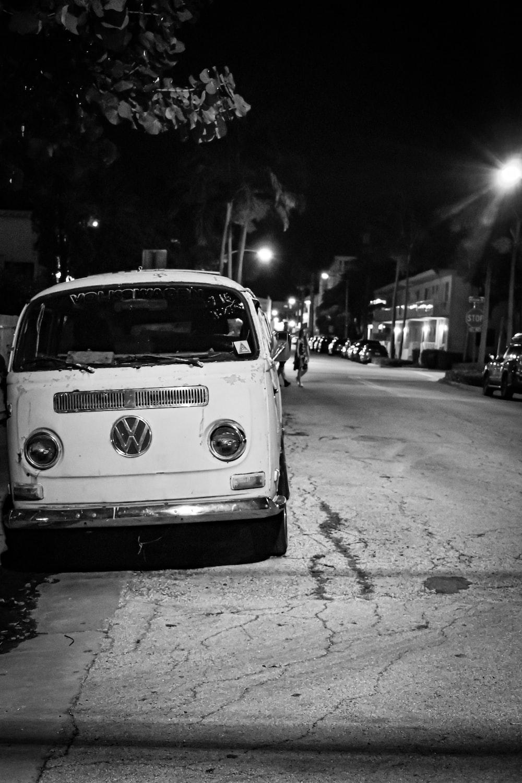 white Volkswagen T-Series car