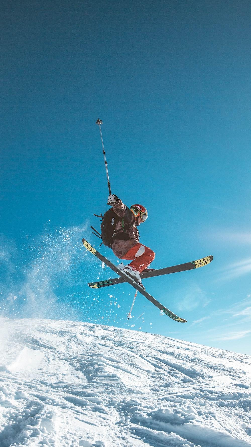 man skiing on land