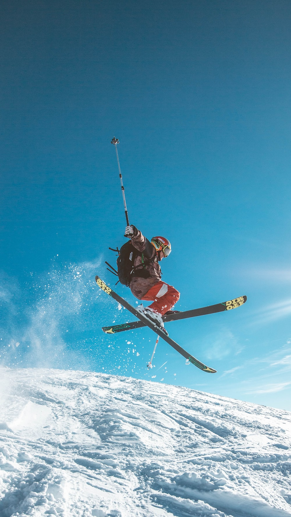 man skiing on land