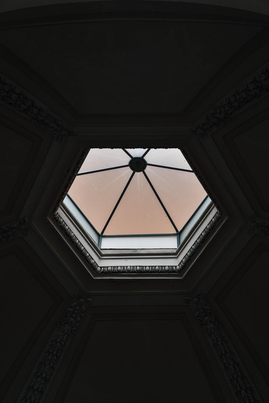 octagonal white frame